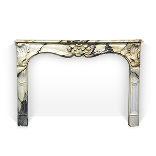 Choiseul is a beautiful custom made Louis XV style fireplace made out of marble. This fireplace is the reproduction of an antique Louis XV period fireplace mantel.