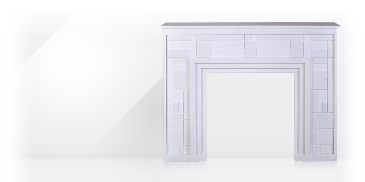 Maison & Maison, modern fireplaces designers, allows you to create your own custom-made fireplace mantel based on the Composition 1F model. Modern marble fireplace.