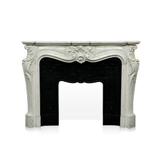 The Comtesse de Mailly mantel is a custom-made mantel with a richly carved decor characteristic of the Louis XV style.