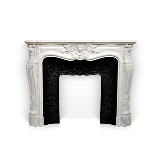 Madame du Barry is a Custom Made Fireplace Mantel of Louis XV style made out of marble.