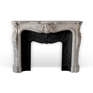 Duc de Berry is a beautiful Louis XV style custom-made marble fireplace.