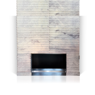 Origami is a marble fireplace designed around modern and minimalist lines, is the unique result of the collaboration between Bismut & Bismut Architects and Maison & Maison