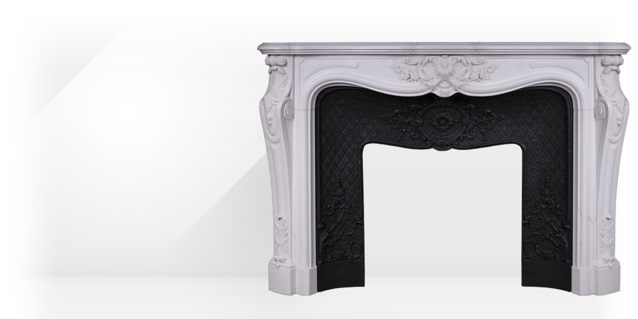 Païva is a superb custom made marble fireplace of Louis XV style carved ornaments.