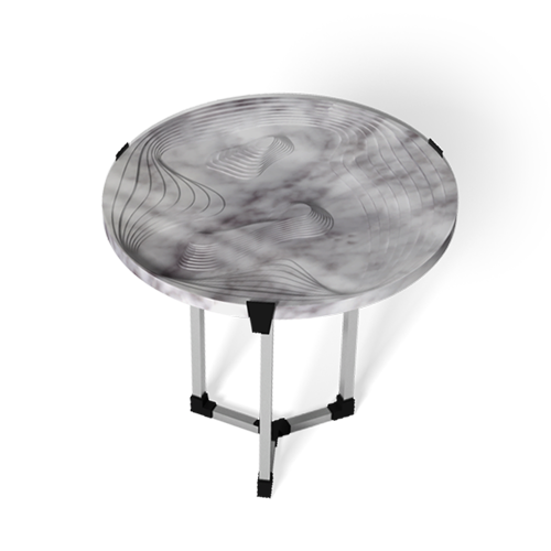 Maison & Maison, marble designers and craftsmen, presents its made-to-measure collection of coffee tables and side tables combining marble with 3D printing with Topography as its theme: Nord
