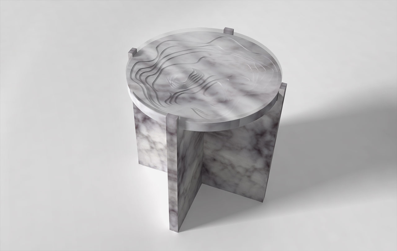 Maison & Maison, marble designers and craftsmen, presents its collection of coffee tables and side tables combining marble with 3D printing with