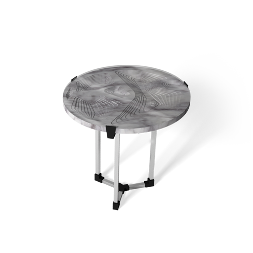 Maison & Maison, designers and craftsmen of marble furniture, presents its made-to-measure collection of coffee tables and side tables combining marble with 3D printing with Topography as its theme: Sud