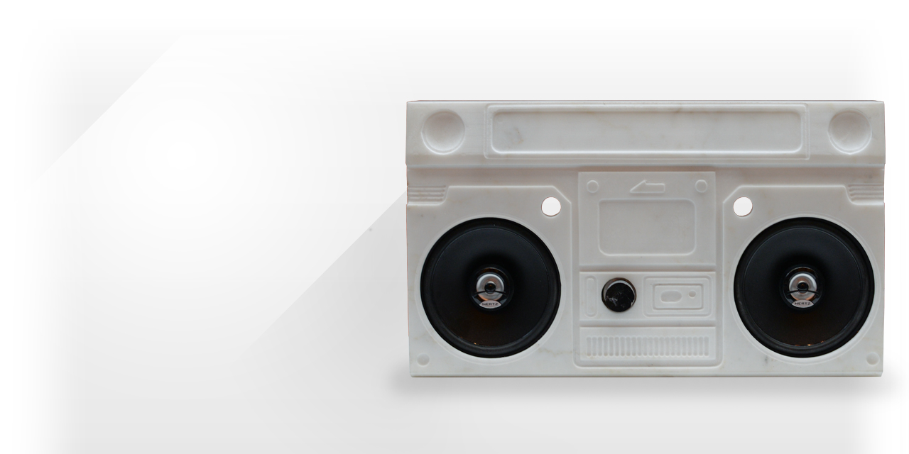 Maison & Maison, designers and creators in marble, present their boombox from the City collection: Ghettomarble