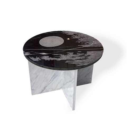 Maison & Maison, marble designers and craftsmen, presents its made-to-measure marble side table model, a tribute to science fiction: Deathstar