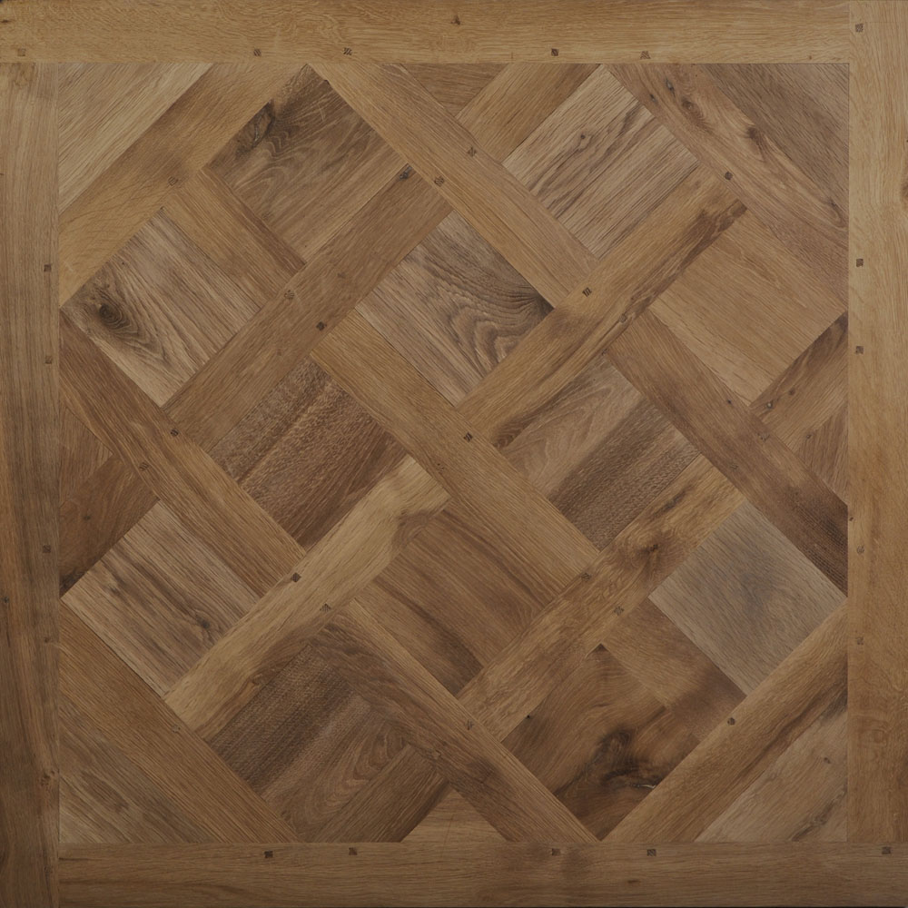 Versailles Parquet Panel In Old Solid Oak 18th Century