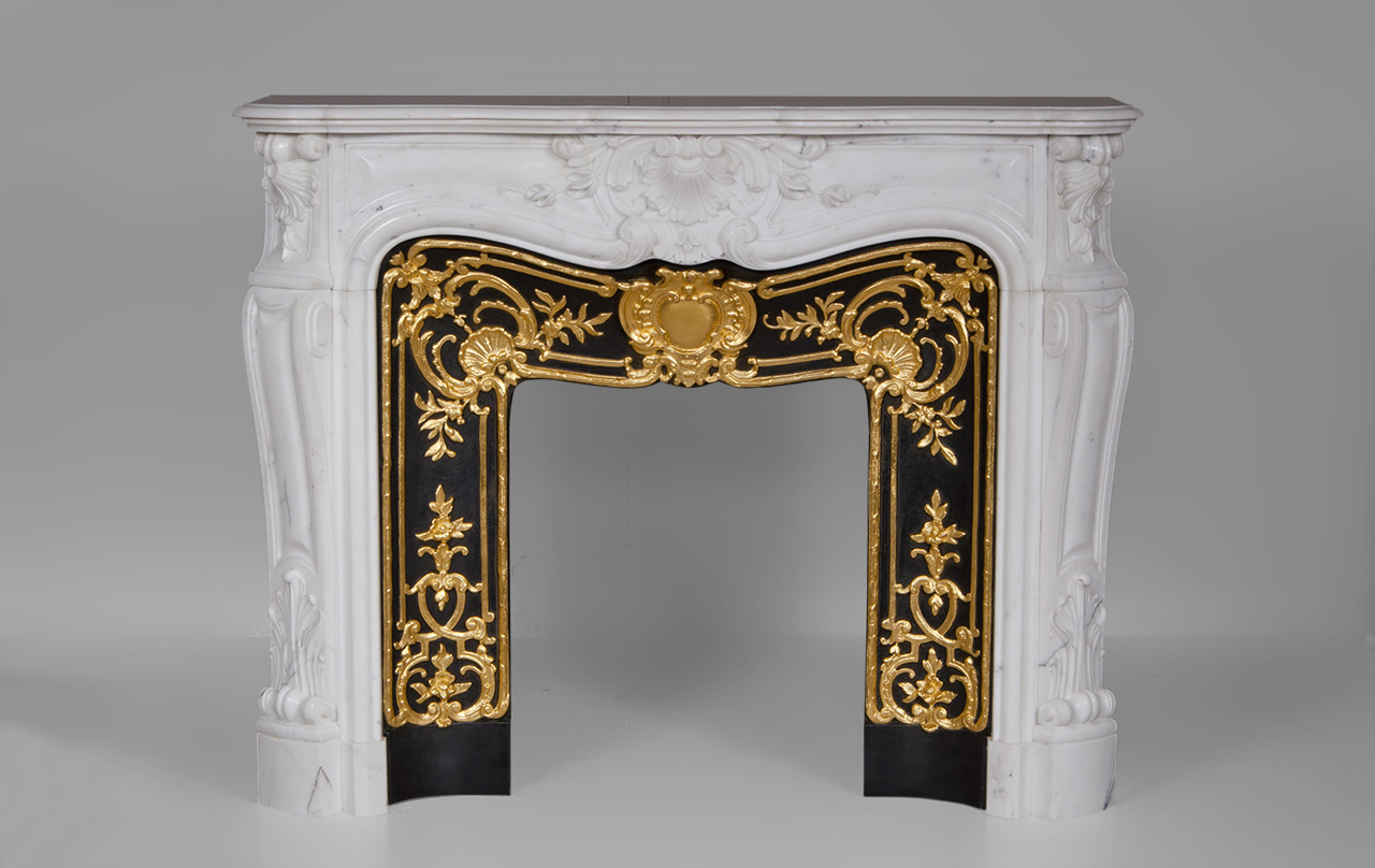 """Madame Du Barry"" is a custom-made Louis XV style marble fireplace of a rare opulence.